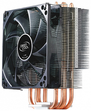 Кулер DEEPCOOL  GAMMAXX400  S1155/S1156/S775/AM2/AM2+/AM3/FM1 (8шт/кор, 130Вт,PWM Blue Led, 4 тепл. трубки прямого контакта ) RET