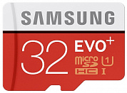 карта памяти 32Гб Samsung EVO Plus Class 10 UHS-I + SD адаптер (read speed up to 80MB/s, write speed up to 20MB/s) (MB-MC32DA/RU)