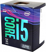 Процессор INTEL Core i5-8400 / 2.8-4.0 GHz / 9MB cache / 6 cores / 6 threads / UHD Graphics 630 / 65W TDP / LGA1151 / BOX