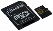 карта памяти MicroSD Card 32GB  Kingston UHS-I U1 Class 10 +адаптер [SDCA10/32GB]