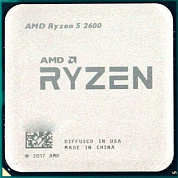 Процессор AMD Ryzen 5 2600 OEM ( Socket AM4, 6-ядерный, 3400 МГц, Turbo: 3900 МГц, Pinnacle Ridge, Кэш L2 - 3 Мб, Кэш L3 - 16 Мб, 12 нм, 65 Вт )