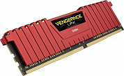Модуль памяти DDR4 Corsair 8Gb 2400MHz CL16 [CMK8GX4M1A2400C16R] VENGEANCE RED
