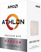 Процессор AMD Athlon 200GE BOX ( Socket AM4, 2-ядерный, 3200 МГц, Raven Ridge, Кэш L2 - 1 Мб, Кэш L3 - 4 Мб, Radeon Vega 3, 14 нм, 35 Вт )