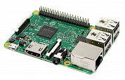 Микрокомпьютер Raspberry Pi Raspberry Pi 3 Model B (RS version) Retail,<br/>1GB RAM, Quad Core 1.2GHz Broadcom BCM2837 64bit CPU, WiFi, Bluetooth, 40-pin<br/>extended GPIO, 4x USB 2.0, HDMI, CSI camera port, DSI display port, Micro SD port